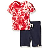 Burt's Bees Baby Baby Organic Star Tee and Loose Pique Short Set, Multi, 0-3 Months