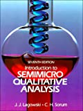 Introduction to semimicro qualitative analysis /