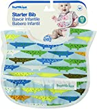 Bumkins Waterproof Starter Bib, Blue Crocs and Turtles, 2-Count