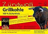 20 Kg  Zündwolli Eichengrillkohle Holzkohle Eiche Grillkohle Eichenkohle Premiumqualität aus Spanien