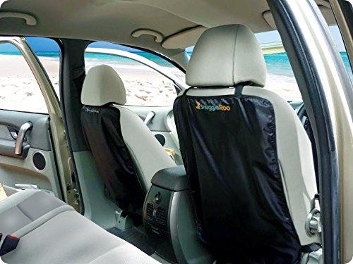 best deals snuggleroo premium car kick mats 2 pack waterproof car seat back protector. Black Bedroom Furniture Sets. Home Design Ideas