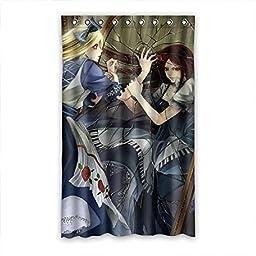 Alice in Wonderland Blackout Curtain Custom Hooks For Living Room 52\