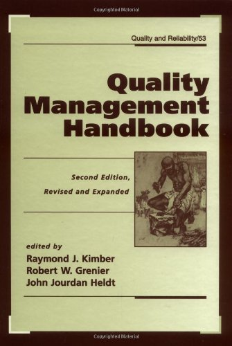 Quality Management Handbook, Second Edition, (Quality And Reliability)