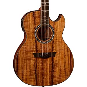 dean exhibition thin body acoustic electric guitar w aphex koa musical instruments. Black Bedroom Furniture Sets. Home Design Ideas