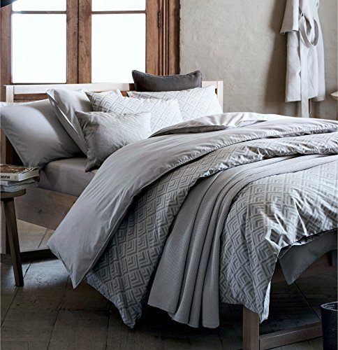 Mid century modern bedding geo print duvet quilt cover set for Minimalist bedding sets