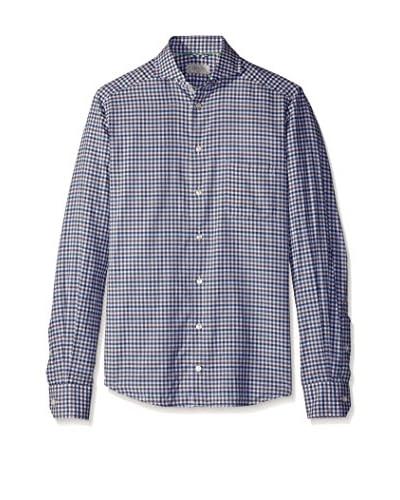 Eton Men's Slim Fit Flannel Checked Sportshirt