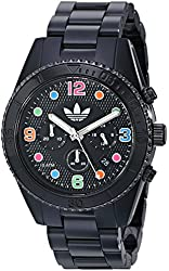 adidas Unisex ADH2946 Brisbane Black and Multicolor Watch With Black Bracelet
