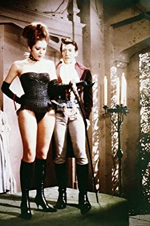 Patrick Macnee and Diana Rigg in The Avengers in basque choker collar