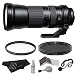 Tamron AFA011C700 SP 150-600mm F/5-6.3 Di VC USD Zoom Lens for Canon EF Cameras + 95mm UV Filter + 95mm Circular Polarizer Filter with Deluxe Cleaning Kit + Lens Cap Keeper