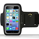 "Minisuit SPORTY Armband + Key Holder for Apple iPhone 6 (4.7"") Black"