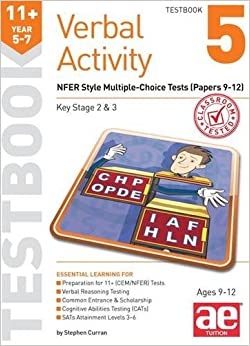 11+ Verbal Activity Year 5-7 Testbook 5: NFER Style