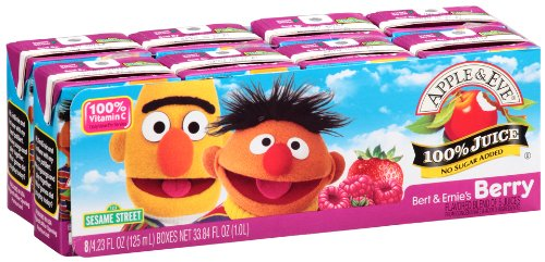 Apple & Eve Sesame Street Bert And Ernie'S Berry Juice, 8 Count (Pack Of 5) front-1045685