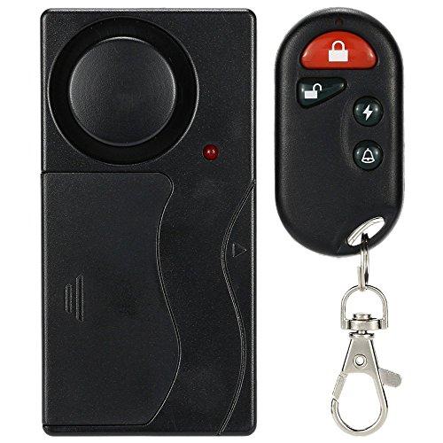 KKmoon Wireless Remote Control Vibration Alarm Home House Security Door Window Car Sensor Detector Door Chimes Bells