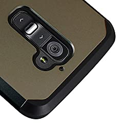 LG G2 Case Kuteck Defender Series Protective Case Cover for LG G2 (AT&T Sprint T-Mobile Only) Include 1x Stylus Pen (Gunmetal Grey)