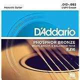 Cuerdas de Guitarra Acústica D'Addario EJ16 de bronce fosforado
