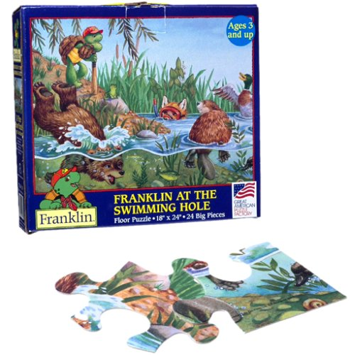 Picture of Great Ameican Franklin At the Swimming Hole Floor Puzzle (B0000541RI) (Floor Puzzles)
