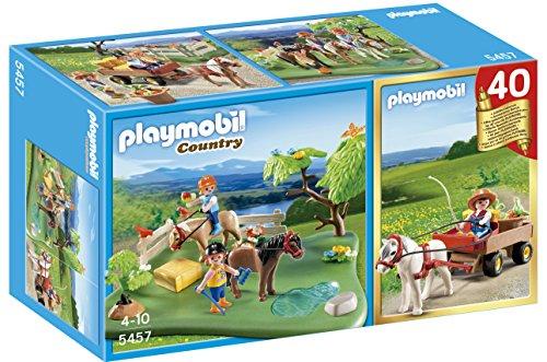 comparamus playmobil 5457 figurine compact set anniversaire cavaliers avec poneys et. Black Bedroom Furniture Sets. Home Design Ideas
