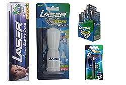 Laser Ultra Shaving Kit (Shaving Cream, Ultra Shaving Blade , Ultra Shaving Brush, Ultra Metal Head Shaving Razor)