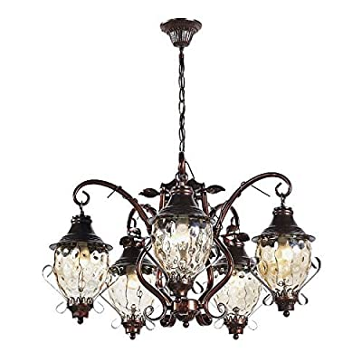 CHXDD America Pastoral Iron Chandelier Vintage Living Room Pendant Lamp Study Room Hanging Lamps Dining Room Hanging Light