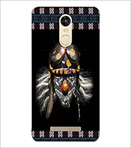 PrintDhaba Skull with Helmet D-3573 Back Case Cover for XIAOMI REDMI NOTE 3 MEDIATEK (Multi-Coloured)