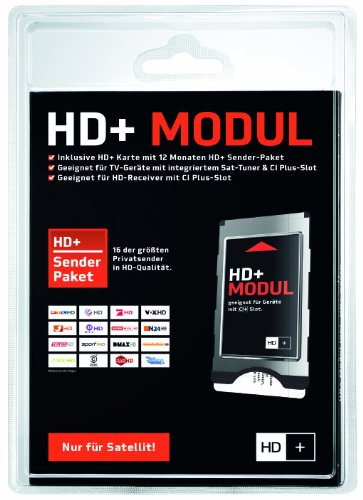 hd karte satellit CI+ Modul inkl. HD+ Karte für 12 Monate HD+ Programme (nur für Sat