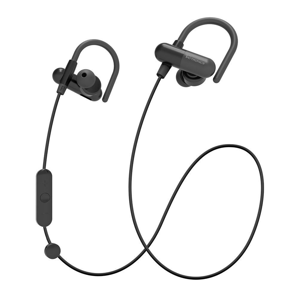 Bluetooth Headphones, TaoTronics Wireless In-Ear Sweatproof Sports Earbuds (Secure Ear Hooks Design, Bluetooth 4.1, aptX Stereo Pure Sound, 8 Hours Play Time)