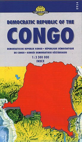 Democratic Republic of the Congo Road Map by Cartographia (World Travel Maps) (French Edition)