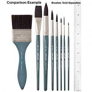 Creative Mark Mimik High Performance Professional Artist Synthetic Squirrel Hair Watercolor Brush- Round 2 (Color: Round, Tamaño: 2)