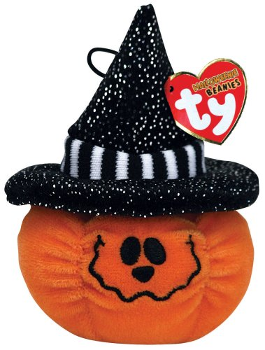 TY Halloweenie Beanies Treats pumpkin w/hat