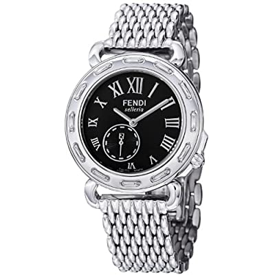 Fendi Women's F81031HBR8153 Selleria Polished Stainless Steel Bracelet Watch