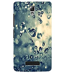 PrintDhaba Droplets D-2215 Back Case Cover for LENOVO A2010 (Multi-Coloured)