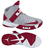 Nike 525017003 Zoom Soldier VI TB Men's Basketball Shoes (Wolf Grey/Gym Red-White)
