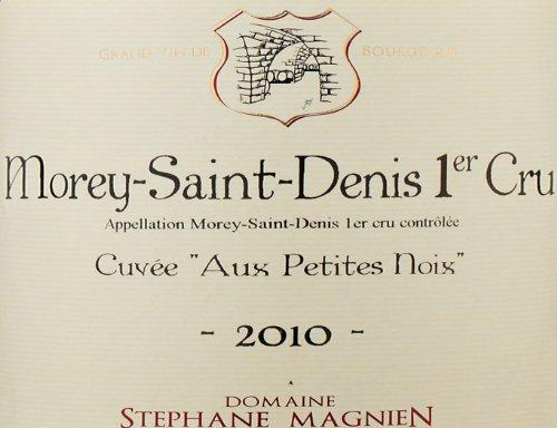 """2010 Domaine Stephane Magnien """"Aux Petites Noix"""" Cuvee, Morey-Saint-Denis 1Er Cru 750 Ml"""