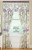 Collections Etc Lavender French Star Drapery Curtain Collection