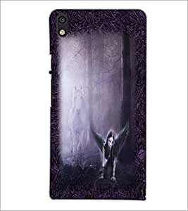 PrintDhaba Dark Angel D-2490 Back Case Cover for HUAWEI ASCEND P6 (Multi-Coloured)