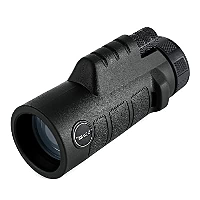 Polaris Optics Spotter 10X42 Compact Bird Watching Monocular. Bright and Clear. Easy One Hand Focus with Rock-Solid Body Armor Means You'll Want to Take This Waterproof, Fogproof Monocular Everywhere from Polaris Optics