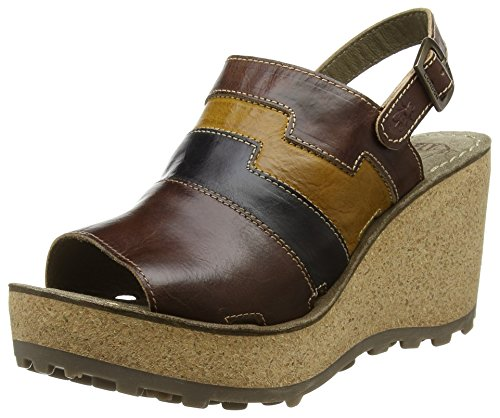 Fly LondonGoan642Fly - Sandali donna , Marrone (Brown (Tan/Black/Mustard)), 40