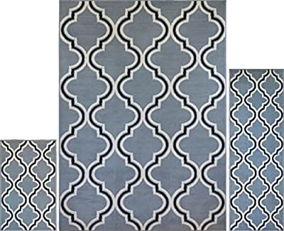 "Home Dynamix Premium Collection HD5194-502 Area Rug, 7'8"" by 10'7"", Ebony"