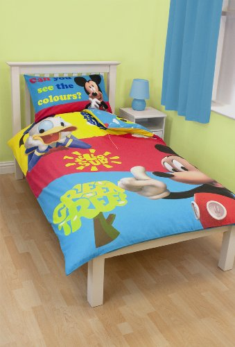Character World Disney Mickey Mouse Puzzled Single Panel Duvet Set
