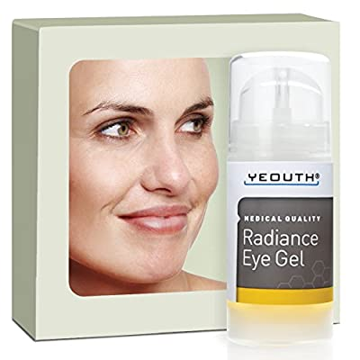 YEOUTH Eye Gel Cream for Anti Aging, Winkles, Dark Circles, Puffiness & Bags with Hyaluronic Acid and Tripeptide - 100%
