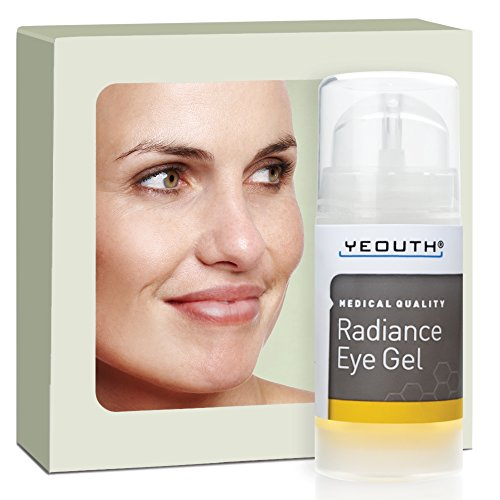 Eye Gel for Anti Aging, Winkles, Dark Circles, Puffiness & Bags with Hyaluronic Acid and Tripeptide - YEOUTH - 100% Money Back Guarantee