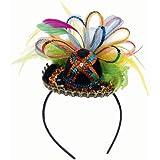 """Amscan Cinco De Mayo Fiesta Party Sequins Sombrero Headband with Feather (1 Piece), Multi Color, 2.5 x 5.5"""""""