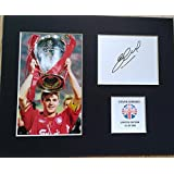 LIMITED EDITION STEVEN GERRARD SIGNED DISPLAY PRINTED AUTOGRAPH FOOTBALL AUTOGRAPH AUTOGRAF AUTOGRAM SIGNIERT SIGNATURE MOUNT FRAME