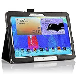 IVSO Slim Smart Cover Housse pour Samsung Galaxy Note 10.1 2014 Edition Tablette with Auto Sleep/Wake Function (Noir)
