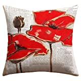 DENY Designs Irena Orlov Red Perfection Outdoor Throw Pillow, 16 by 16-Inch