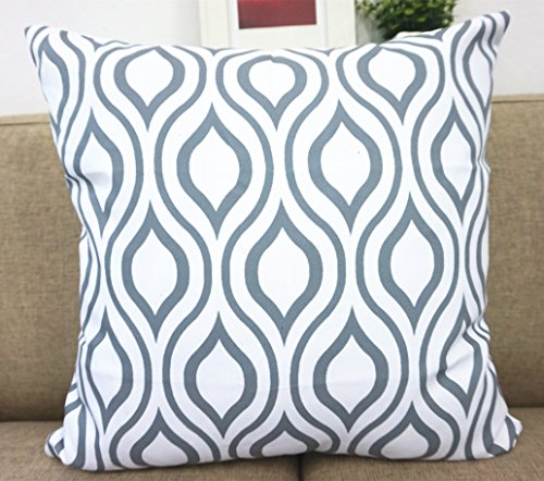 howarmer canvas cotton cushion cover geometric pattern. Black Bedroom Furniture Sets. Home Design Ideas