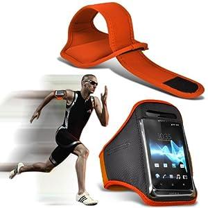 (Orange) Huawei Ascend Y330 Sport Universal Brassards en cours Cyclisme Vélo Gym Jogging Débarrasser bande de bras de cas de couverture par Spyrox
