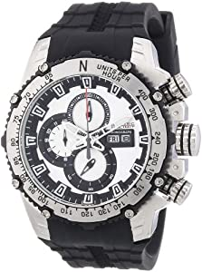 Nautec No Limit Herren-Armbanduhr XL D2X Chronograph Quarz Kautschuk DT QZ/RBSTSTBK-BK