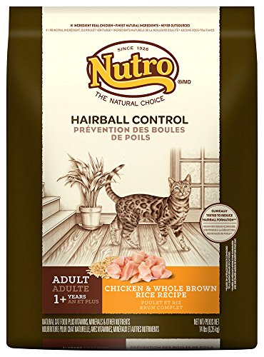 Nutro Hairball Control Adult Cat Chicken & Whole Brown Rice Recipe
