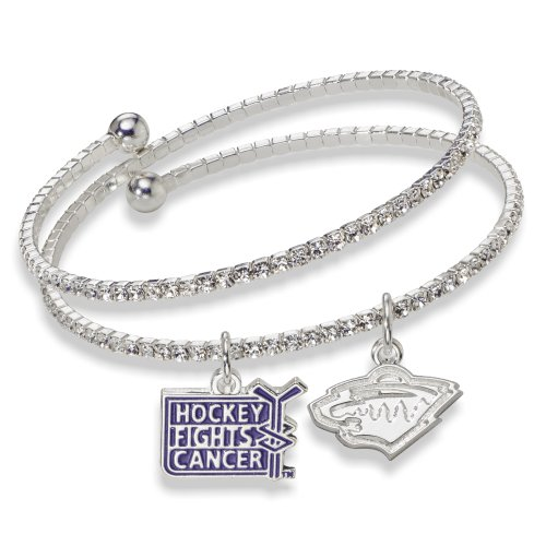 NHL Minnesota Wild Hockey Fights Cancer Support Bracelet, One Size Fits All